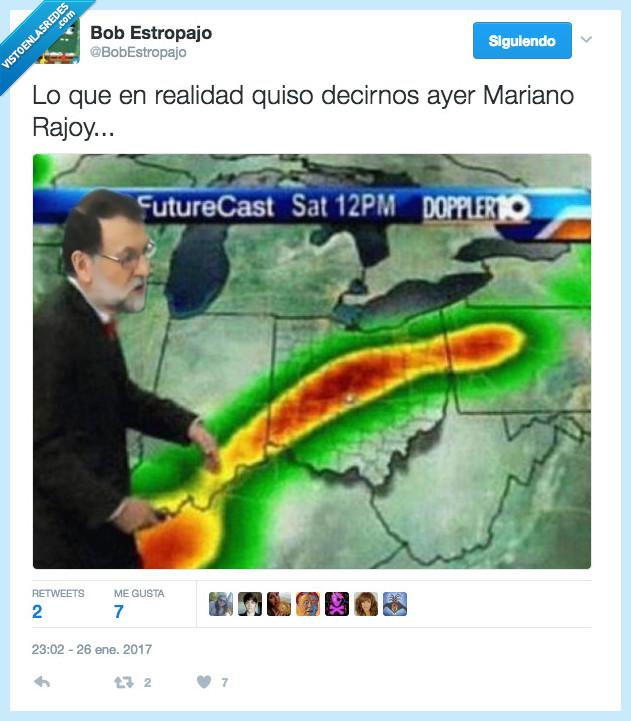 electricidad,lluvia,Mariano Rajoy
