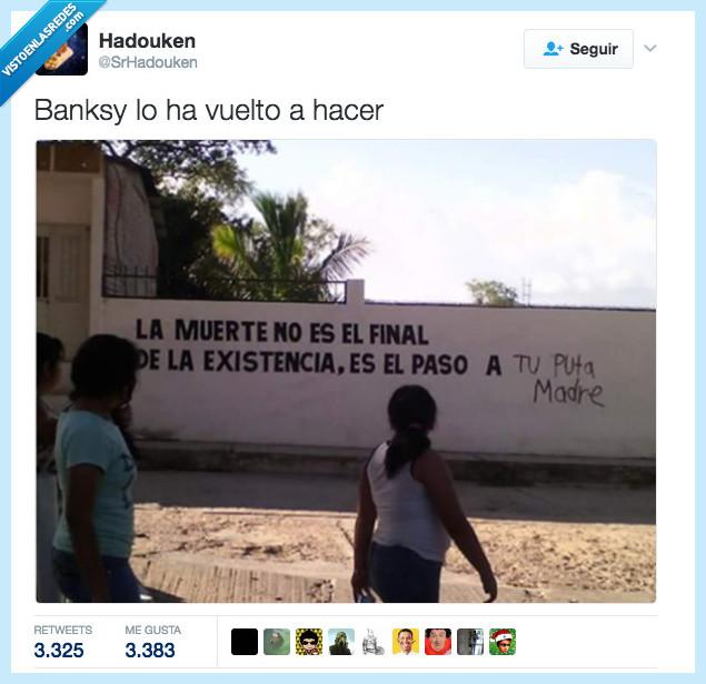 acción churrética,bansky,grafitti