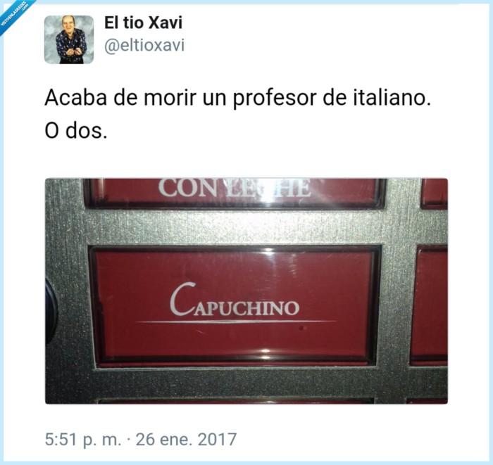 italiano,mal escrito,morir,profesor