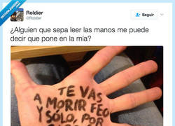 Enlace a La lectura de mano no miente por @Roldier