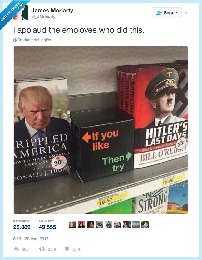 empleado del mes,hitler,librería,trump