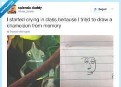 Enlace a ESTOY LLORANDO en clase porque he intentado dibujar un camaleón de memoria por @Alex_jonsie