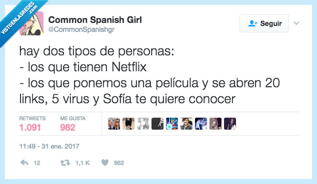 Netflix,pirata,spam,virus
