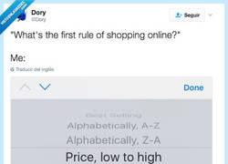 Enlace a ¿Cuál es la primera regla para comprar online? por @Dory
