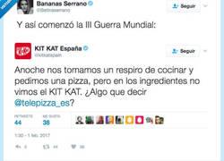 Enlace a Kit Kat vs. Telepizza: Comienza la III Guerra mundial y la culpa la tiene la pizza con piña