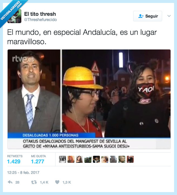 Andalucía,antidisturbios,desalojar,otakus