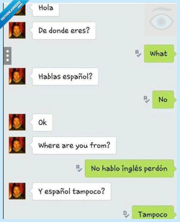 español,hablar,inglés,pasar