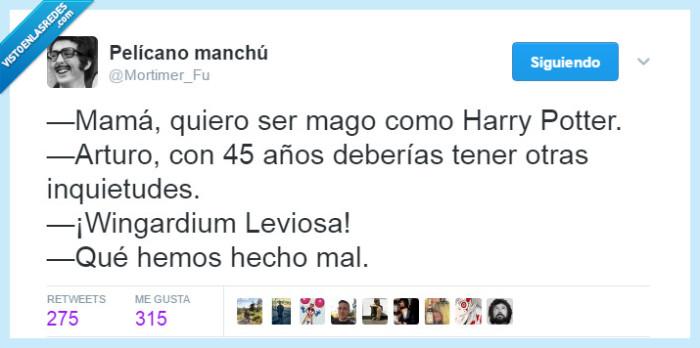 45 años,Harry Potter,Mortimer