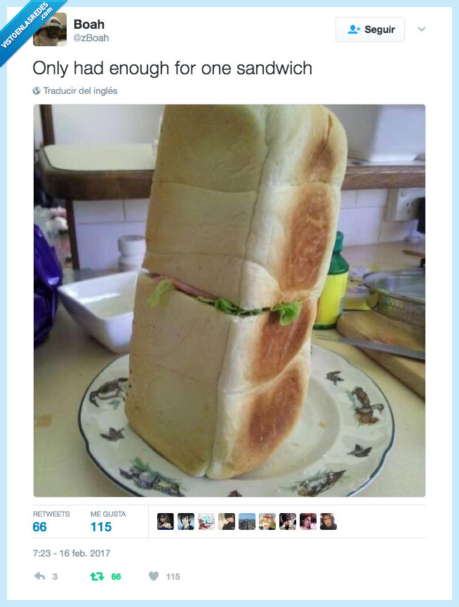 mal cortado,pan de molde,sandwich