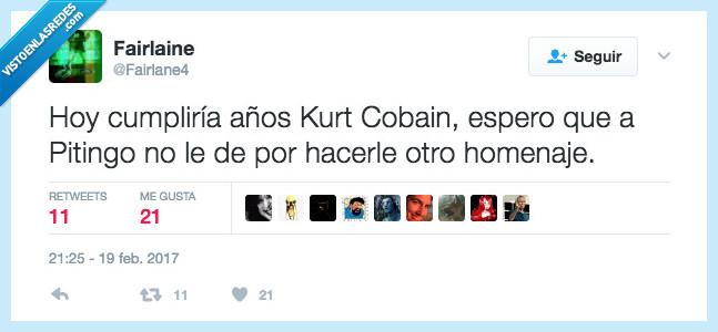 cumpleaños,homenaje,Kurt Cobain,pitingo