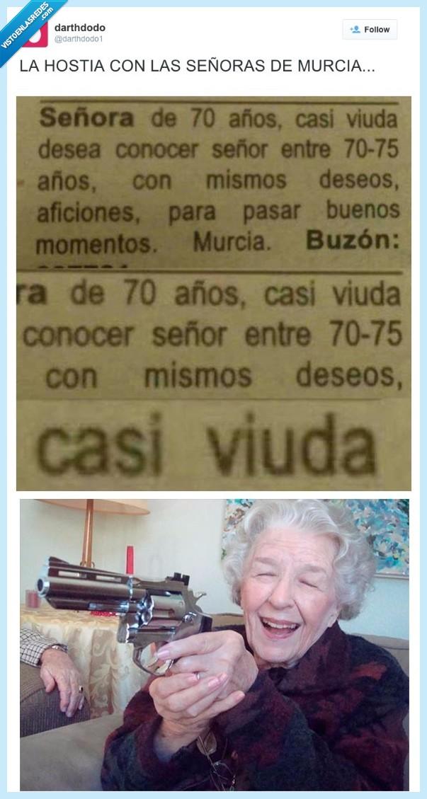 anuncio,Murcia,periódico,Señora