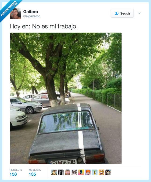 coche,en medio,línea