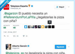 Enlace a El CM de @Telepizza se pasa de listo preguntándole a @agarzon y se lleva un zasca importante