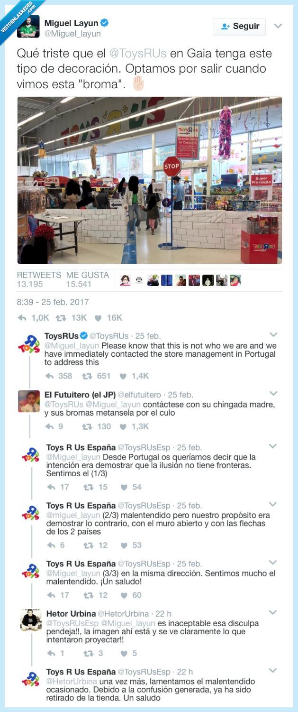muro,ofensa,toys'r's,trump