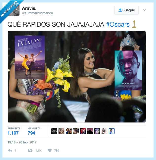 error,lalaland,miss universo,moonlight,oscars