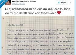 Enlace a La carta de este niño tartamudo cuya filosofía todo el mundo deberíamos adoptar por @MariaLumbreras