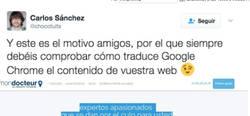 Enlace a Google traductor se hace la picha un lío y te recomienda a médicos que te pongan mirando para Cuenca