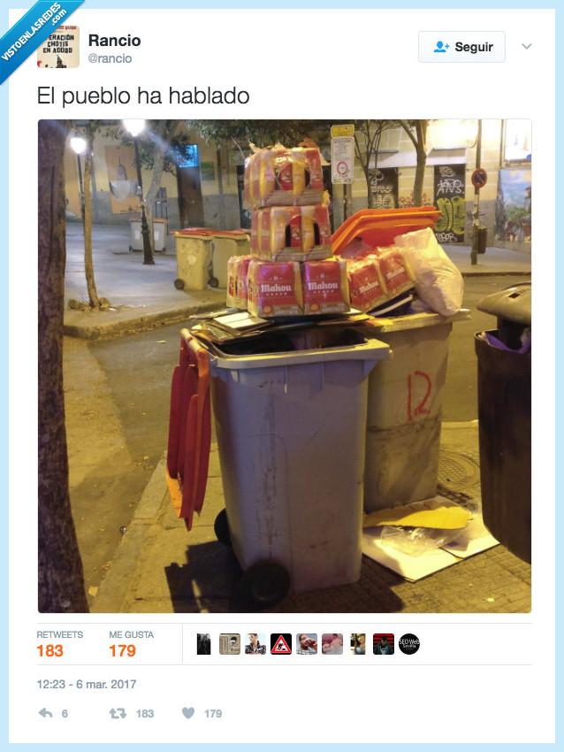 basura,contenedor,Mahou,pueblo