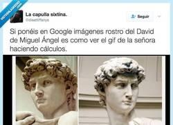 Enlace a No importa como mires al David de Miguel Angel parece que le va a explotar la cabeza todo el rato