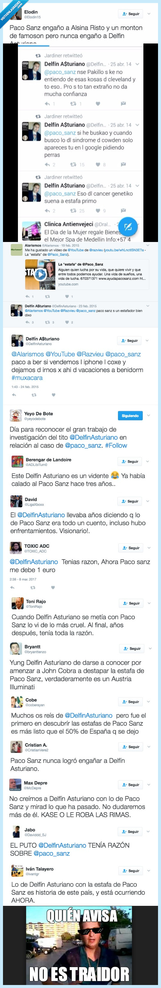 Delfín Asturiano,Paco Sanz,redes