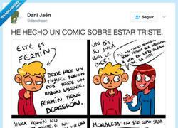Enlace a El cómic que se ha vuelto viral te cuenta la verdad de la tristeza por @danchaen