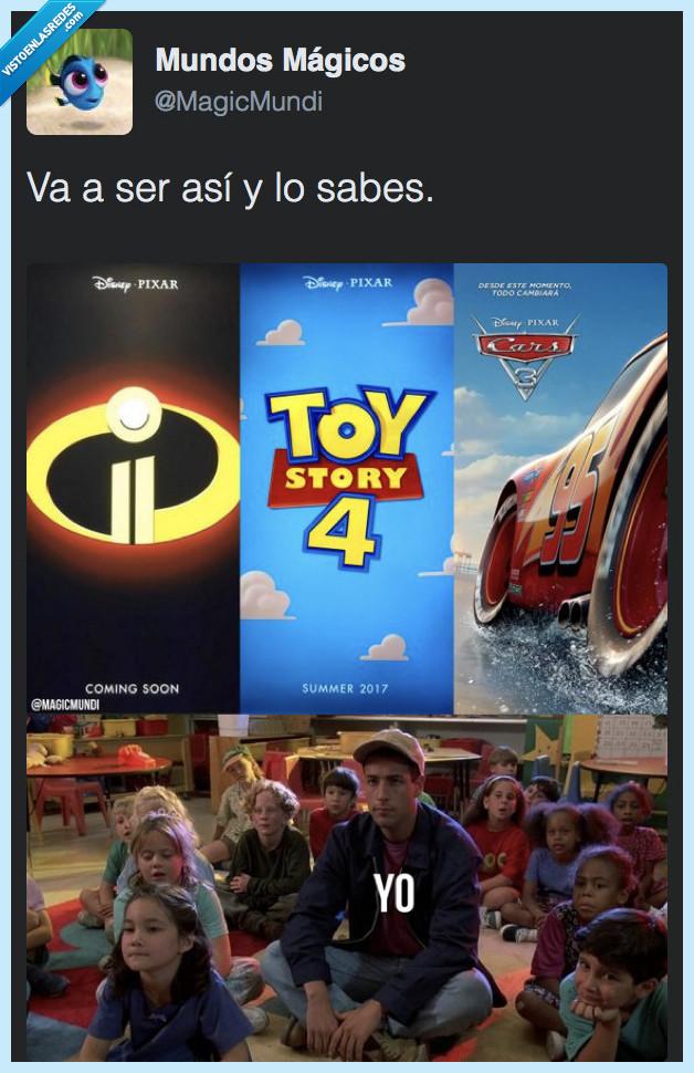 cars,cines,increíbles,pixar,toy story