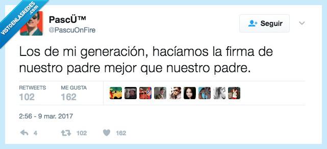 firma,generación,padre