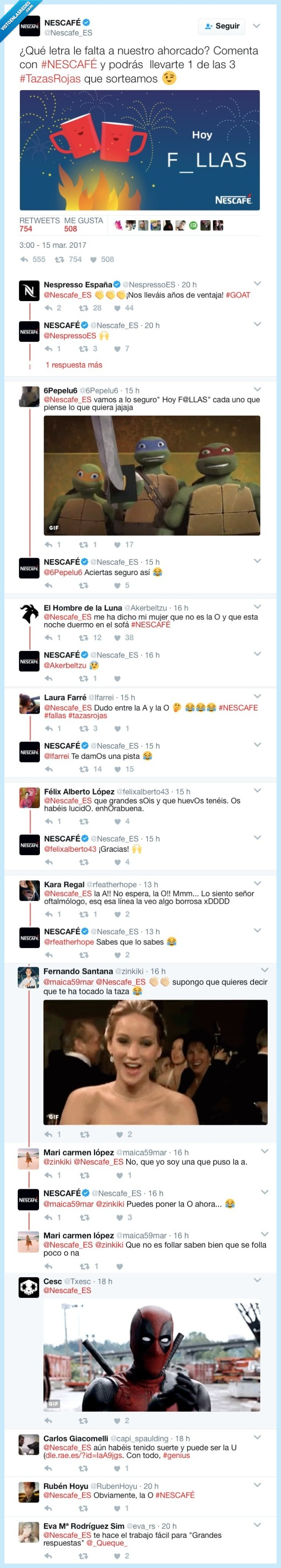 ahorcado,liar,Nescafé,twitter