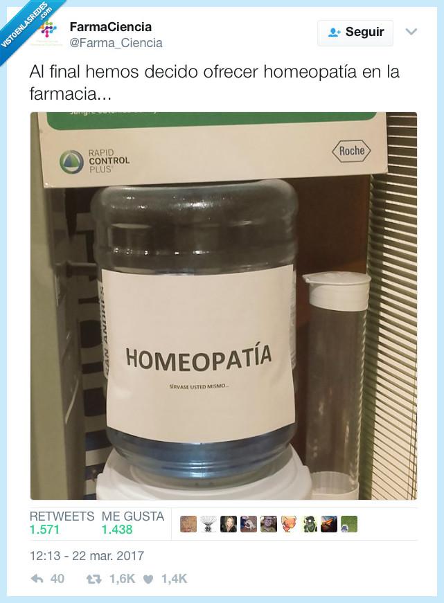 agua,farmacia,homeopatía