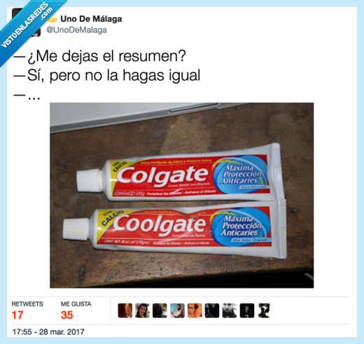 copia,pasta de diente,resumen