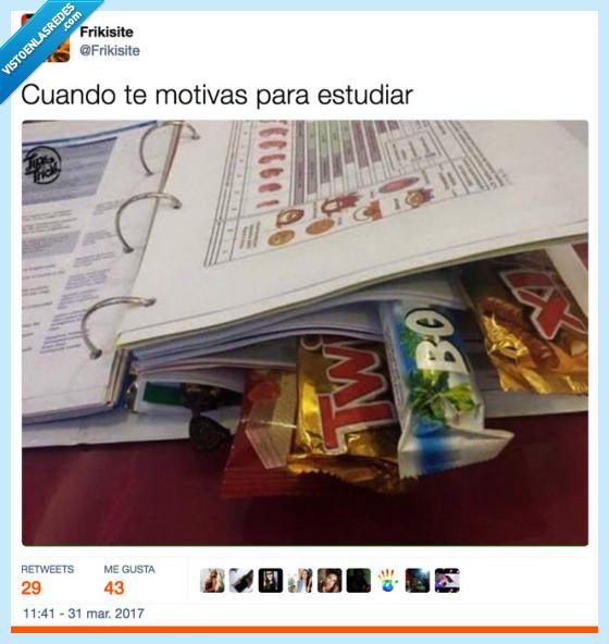 apuntes,chocolatina,estudiar