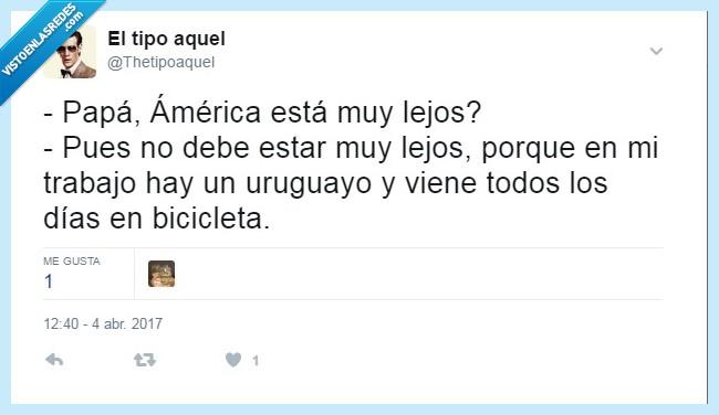 américa,bicicleta,lejos,uruguayo