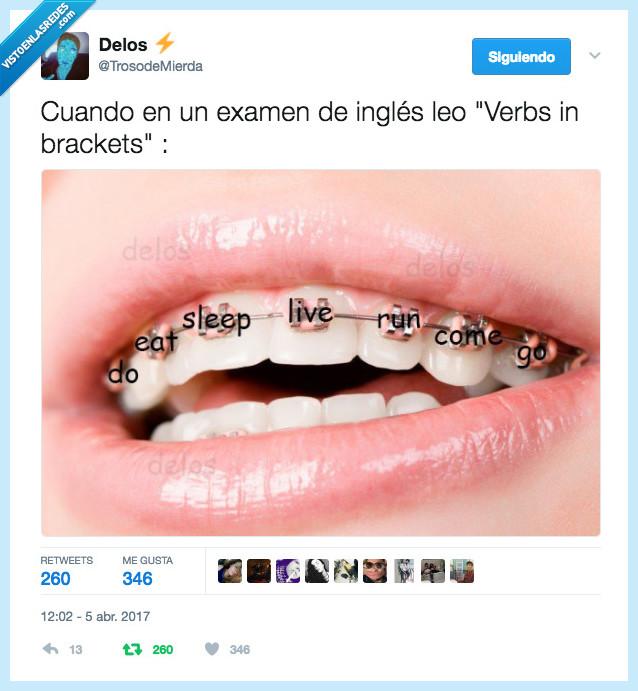 brackets,inglés,verbs
