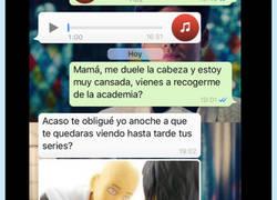 Enlace a Madres que se doctoran en WhatsApp: atención al gol por la escuadra a su hija