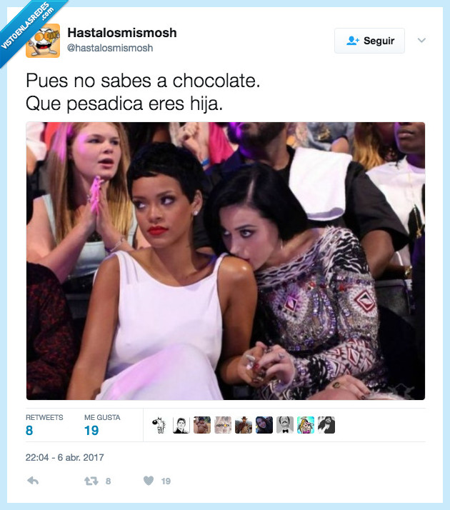 chocolate,kate perry,rihanna