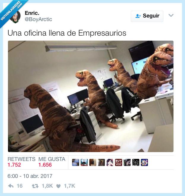 dinosaurio,oficina,rex