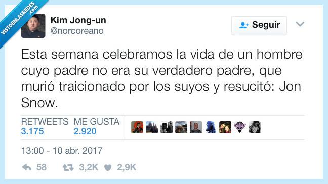 celebrar,Jon Snow,morir,padre,vida