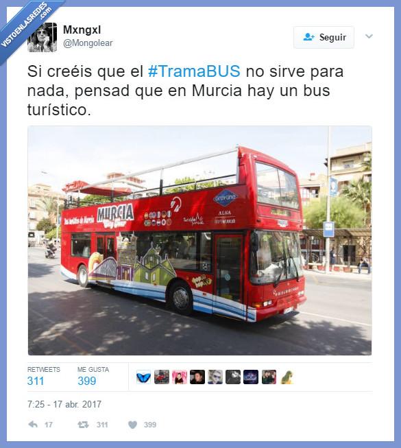 autobús,Murcia,trama