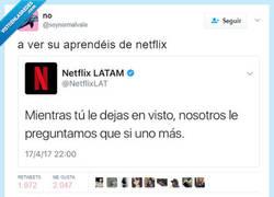 Enlace a Netflix no te abandona, por @soynormalvale