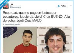Enlace a Ojo no os coléis de Jordi Cruz, por @BICHILLOVERDE