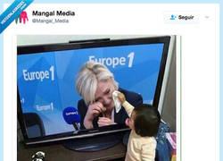 Enlace a Mirad como llora LePen, por @Mangal_Media