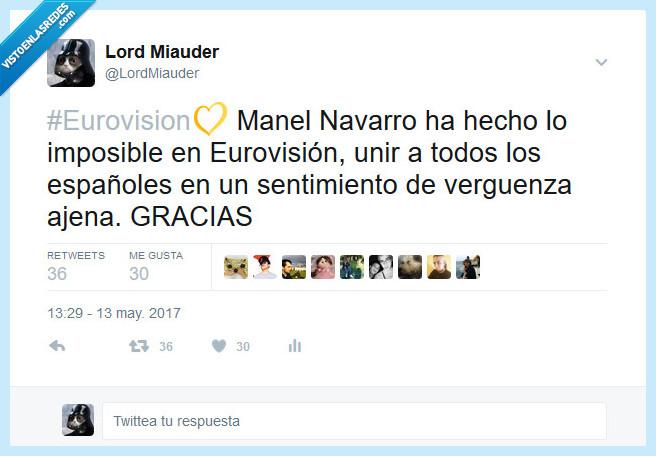 Asco,Chikilicuatre,Eurogallo,Eurovision,Fail,Manel Navarro,Verguenza