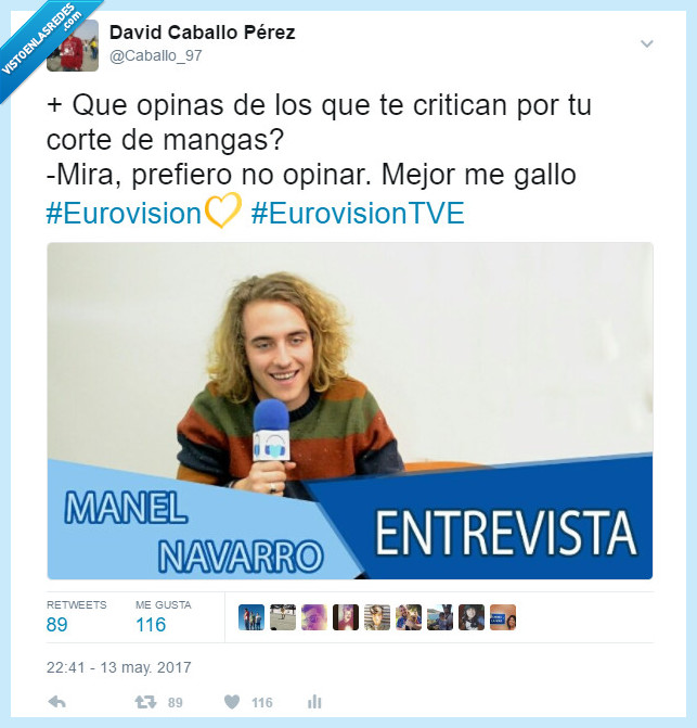 España,Eurovision,Gallo,manel navarro,Ridiculo