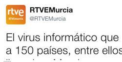 Enlace a El desconcertante tuit de RTVE sobre Murcia y el ciberataque que arrasa en Twitter