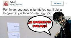 Enlace a Se descubre otro camino directo a Howgarts desde Logroño y los fans de Harry Potter enloquecen