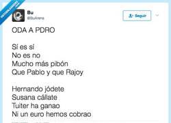 Enlace a Oda a Pedro Sánchez, @BuArena