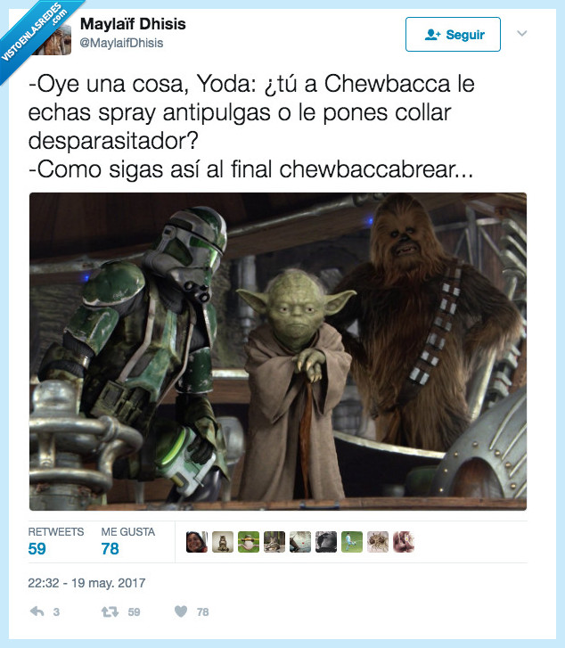 cabreo,chewbacca,star wars