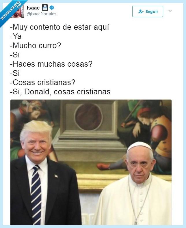Donald,lol,Papa,Trump,Vaticano,Visita