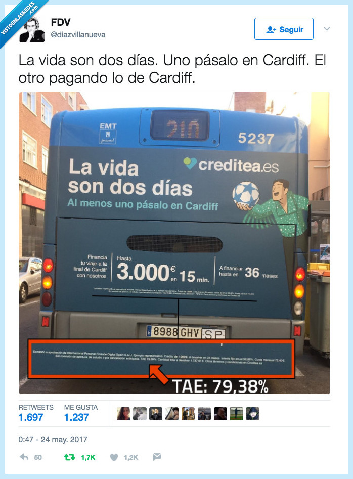 autobús,creditos,estafa