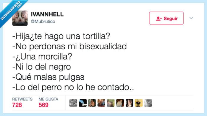 hija,morcilla,tortilla